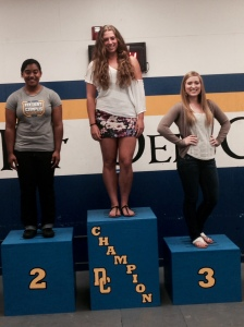 girl podium